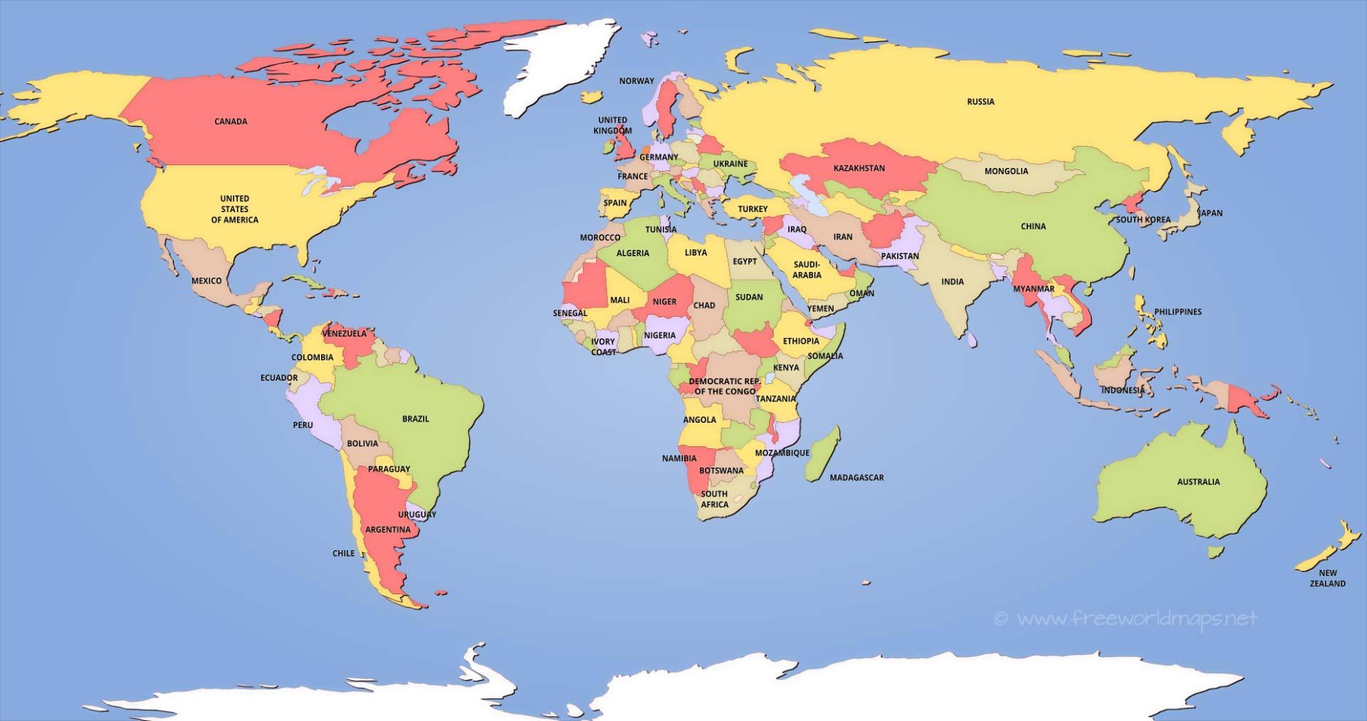 political-world-map-hd - Freedom Lovin